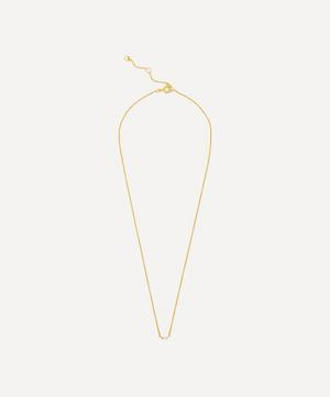 Gold-Plated Baguette White Topaz Pendant Necklace
