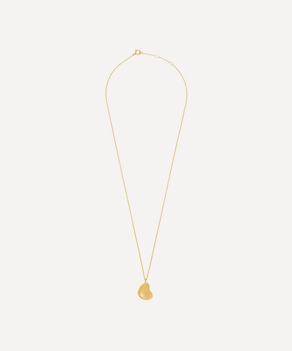 THE UNIFORM - Gold-Plated Pebble Pendant Necklace