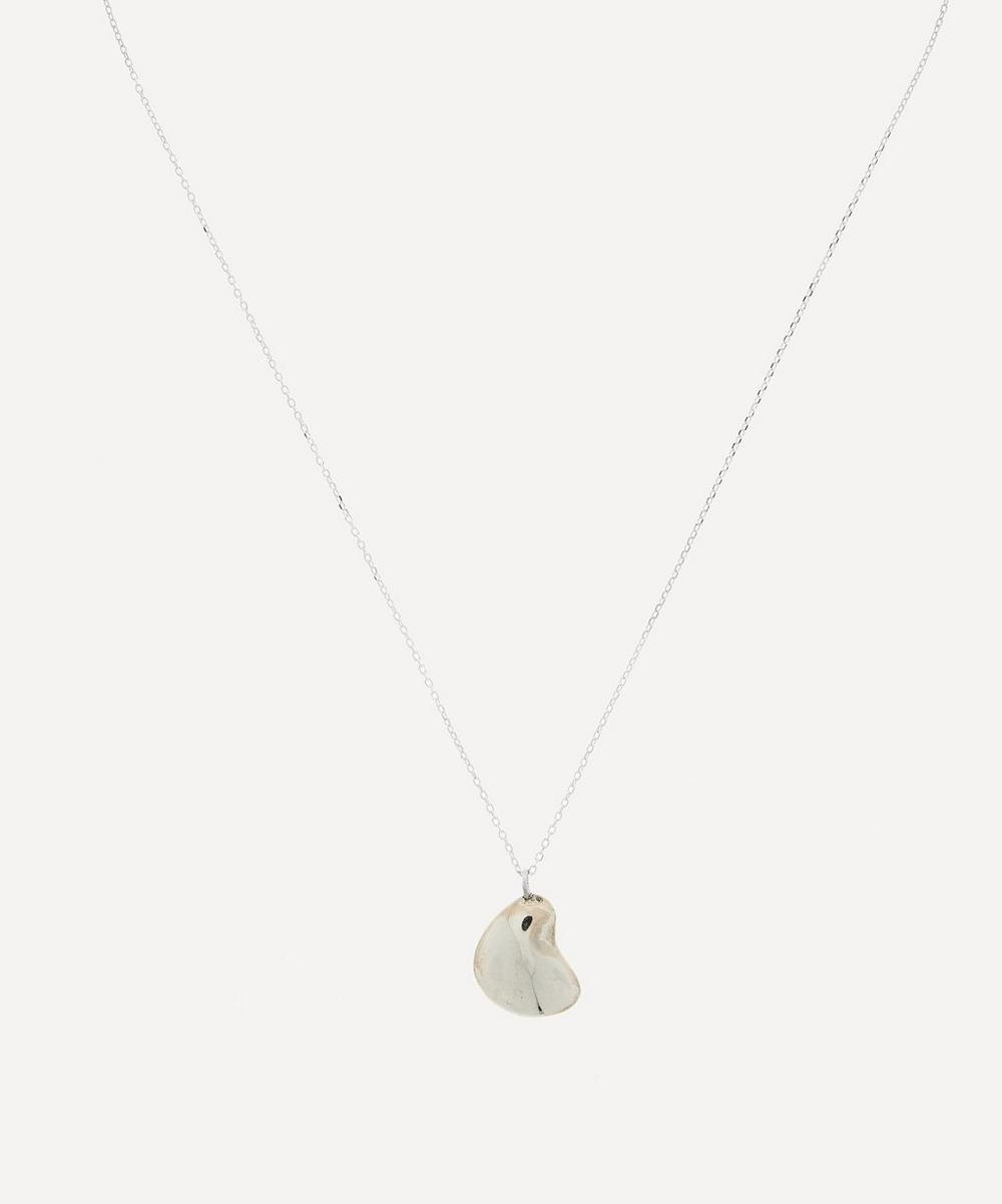 THE UNIFORM - Silver Pebble Pendant Necklace