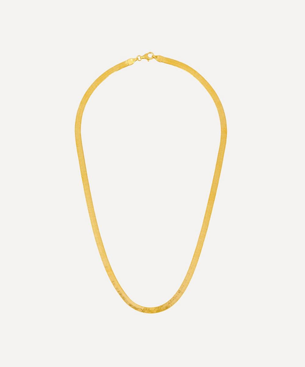 THE UNIFORM - Gold-Plated Liquid Chain Necklace