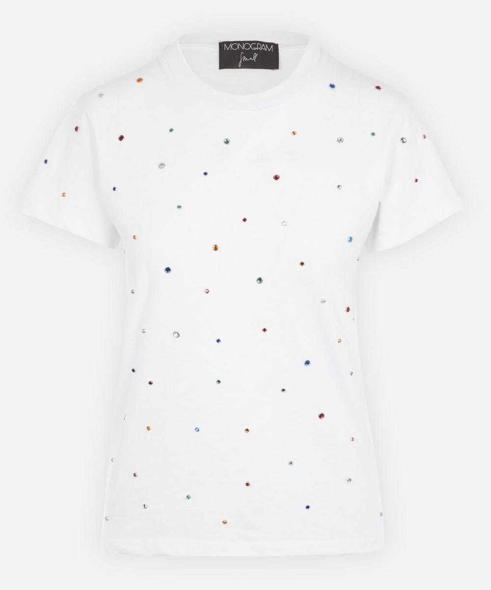 Monogram - Rainbow Rhinestones T-Shirt