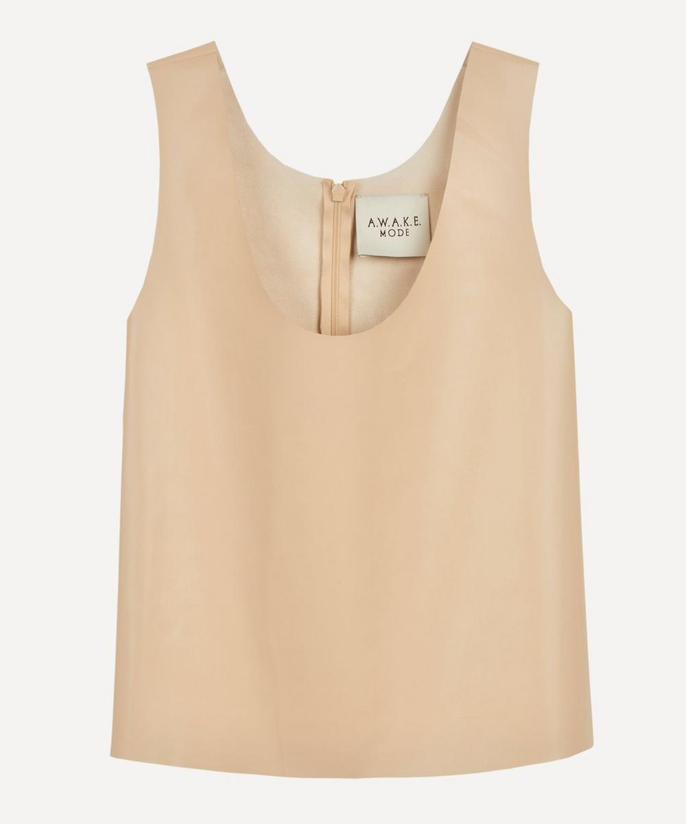 A.W.A.K.E. - Mode Faux Leather Tank Top