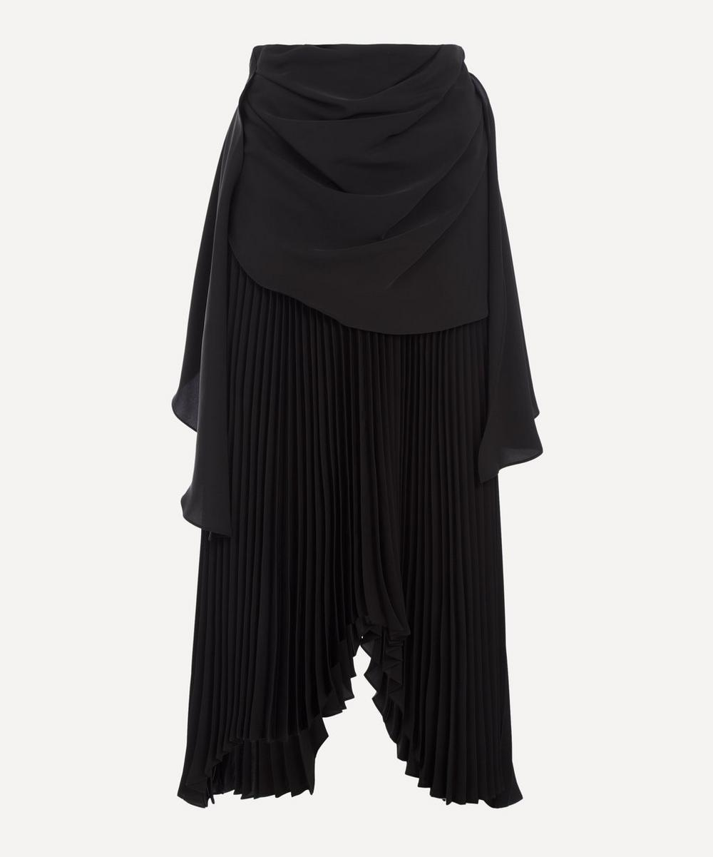 A.W.A.K.E. - Draped Pleated Skirt