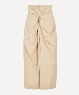 Draped High-Waist Skirt