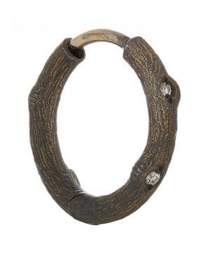 Diamond Twig Single Hoop Earring
