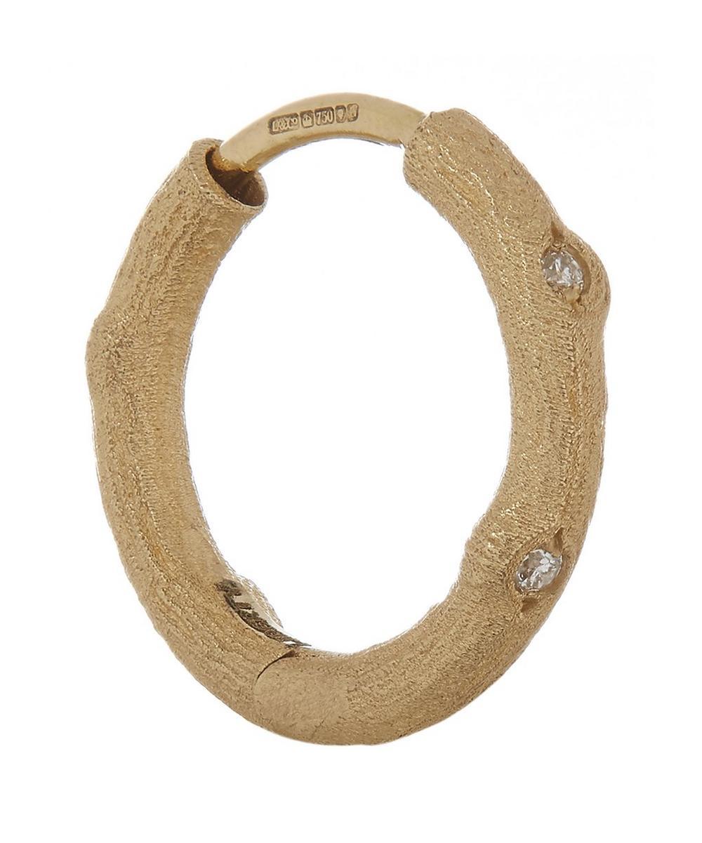 Liberty - Diamond Twig Single Hoop Earring