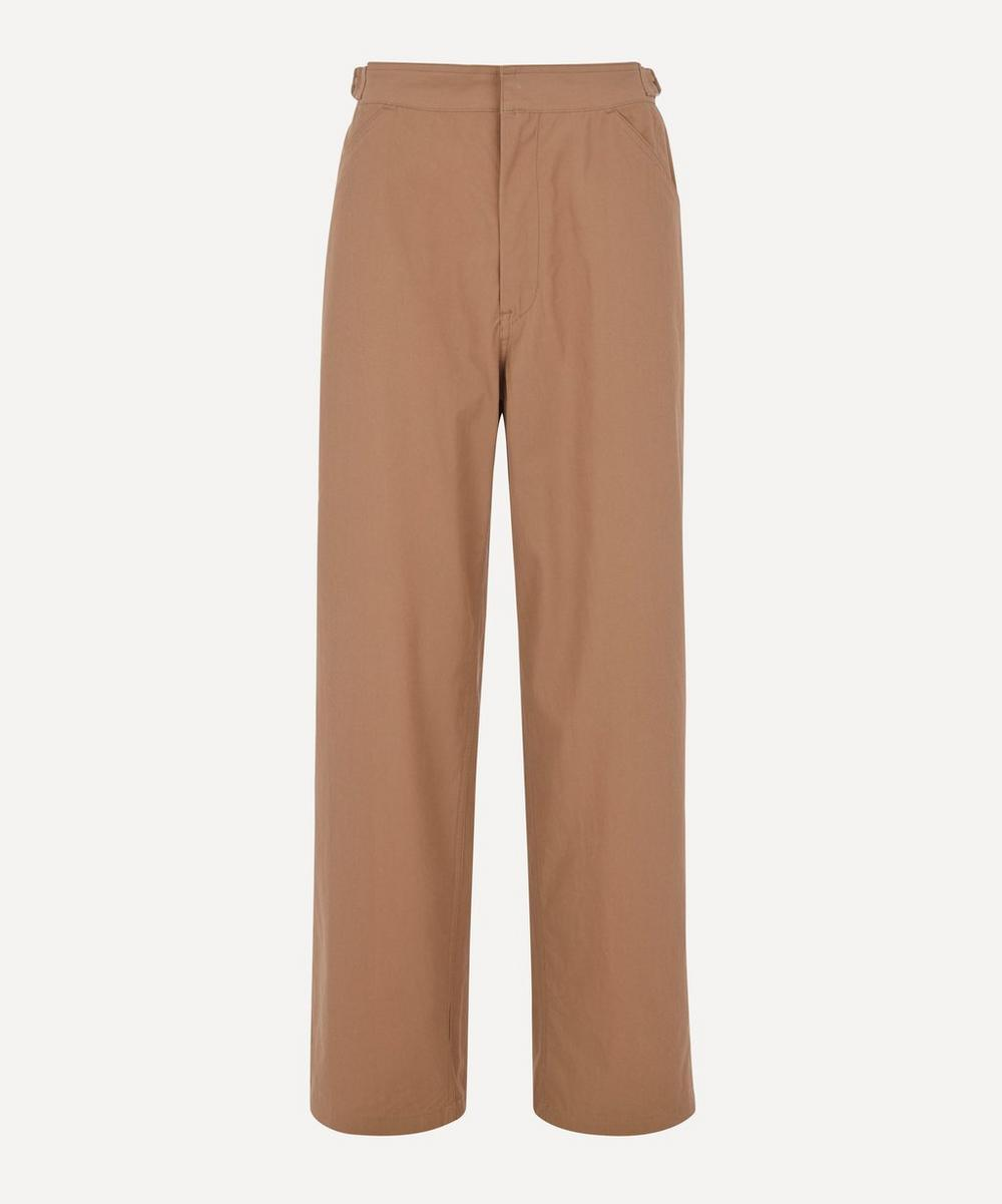 Auralee - Finx Hard Twist Gabardine Buckle-Waist Trousers