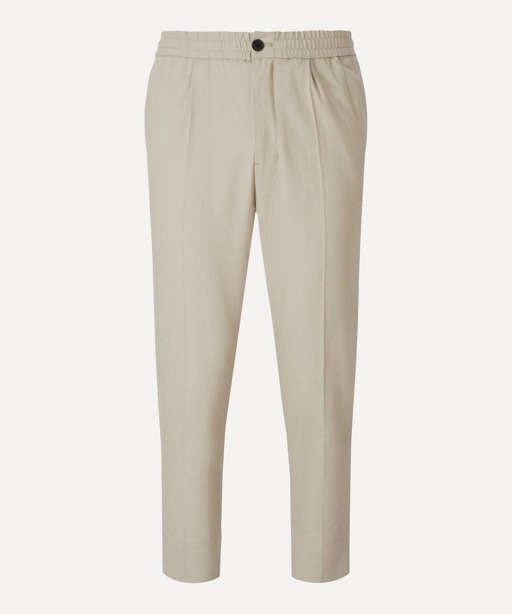 Ami - Elastic Waist Wool Trousers