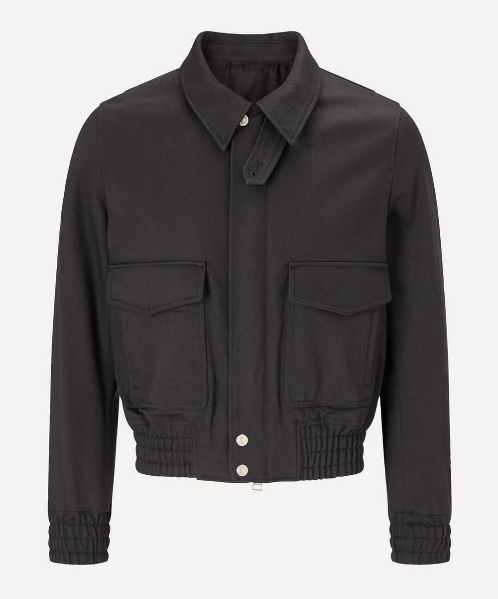 Ami - Patch Pockets Zipped Chore Jacket