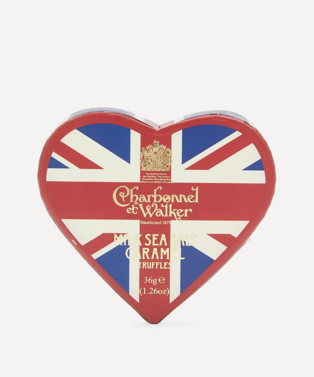 Charbonnel et Walker - Union Jack Heart Milk Sea Salt Caramel Truffles 36g