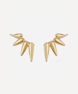 Gold Plated Vermeil Silver Sunbeam Christina Crawler Hook Earrings