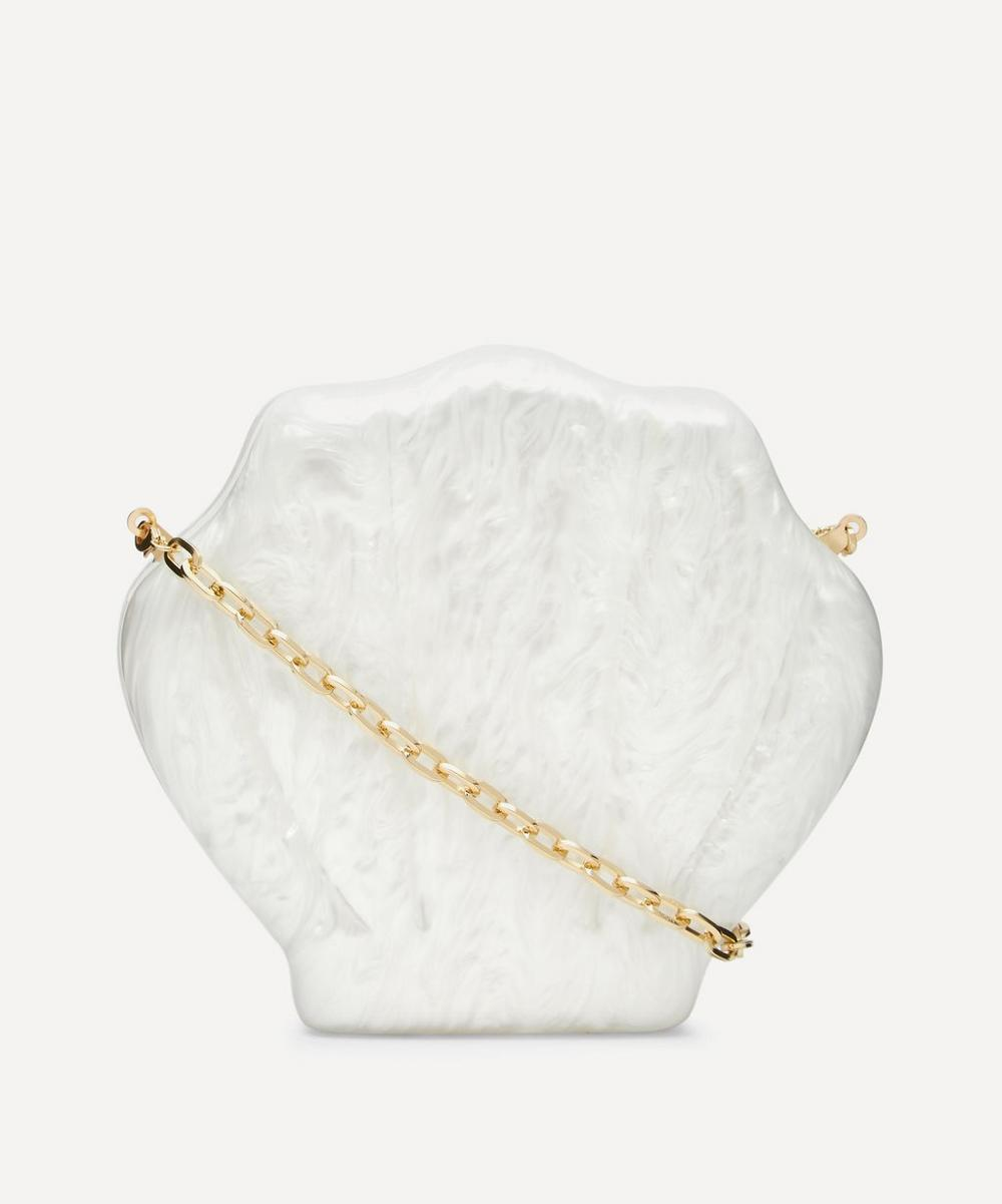 Valet - 18ct Gold-Plated Resin Clam Bag