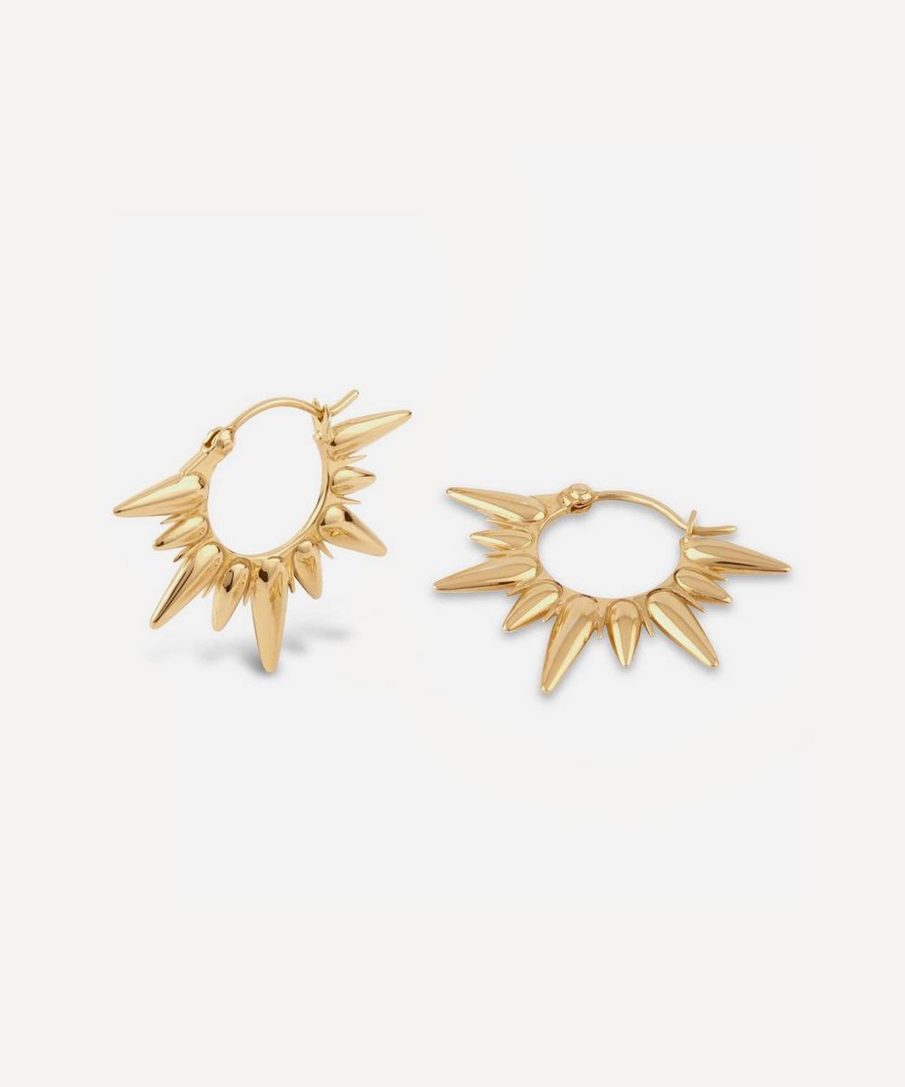 Dinny Hall - Gold Plated Vermeil Silver Sunbeam Fanny Half-Sun Hoop Earrings