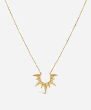 Gold Plated Vermeil Silver Sunbeam Alexa Large Pendant Necklace