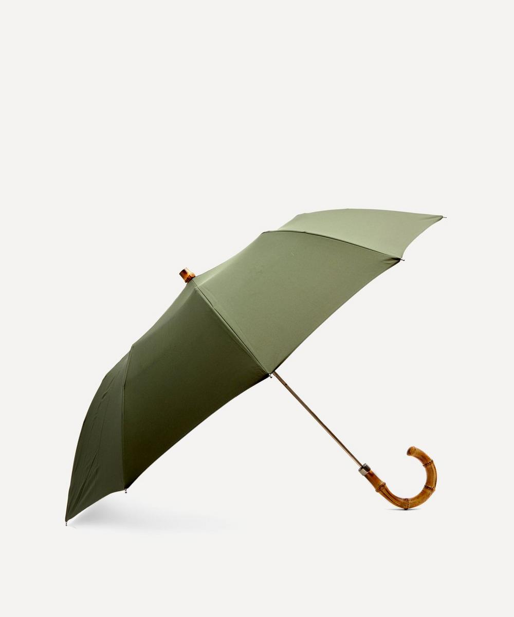 London Undercover - Whangee Cane Crook Handle Telescopic Foldable Umbrella