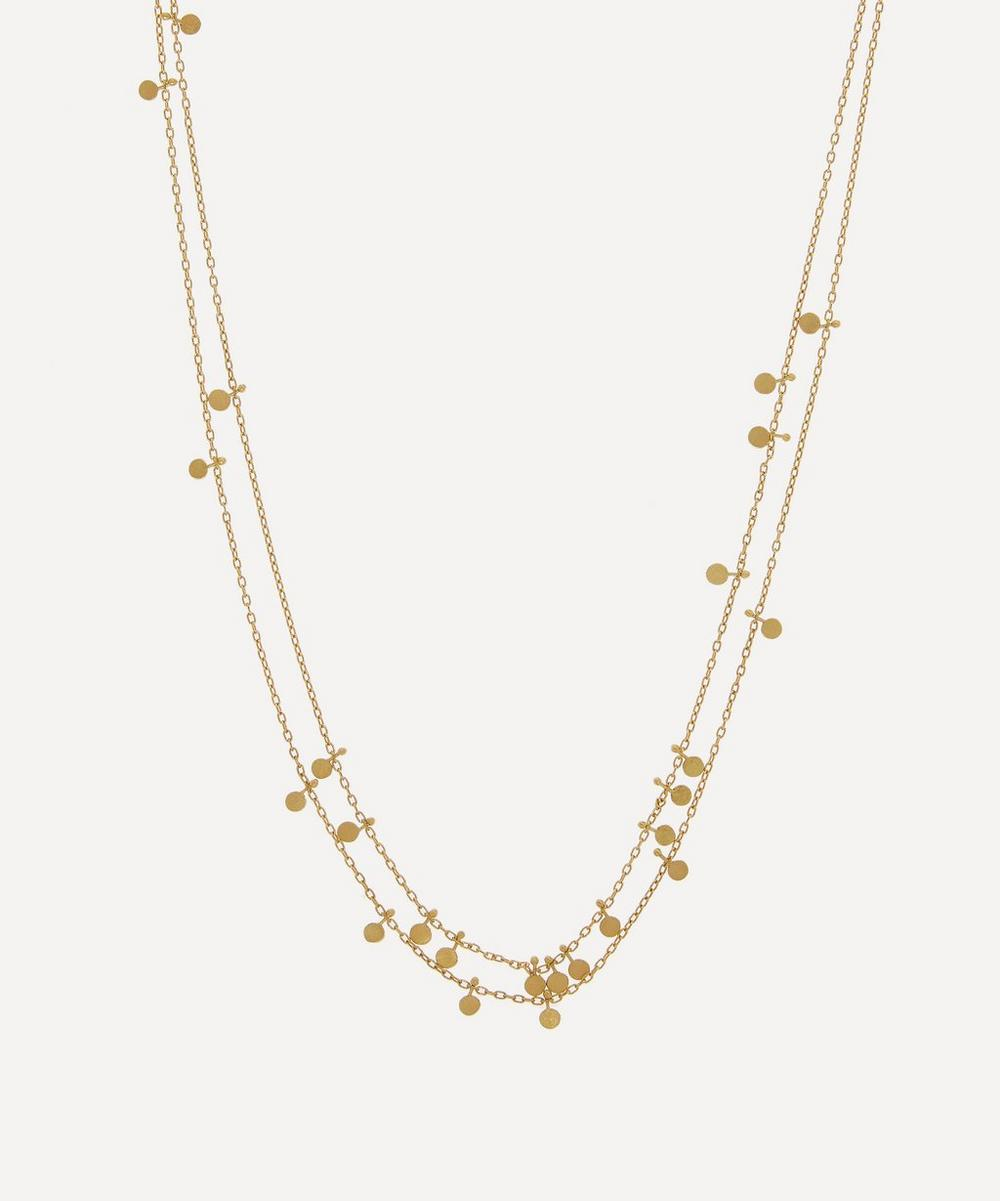 Sia Taylor - Gold Tiny Dots Double Chain Necklace