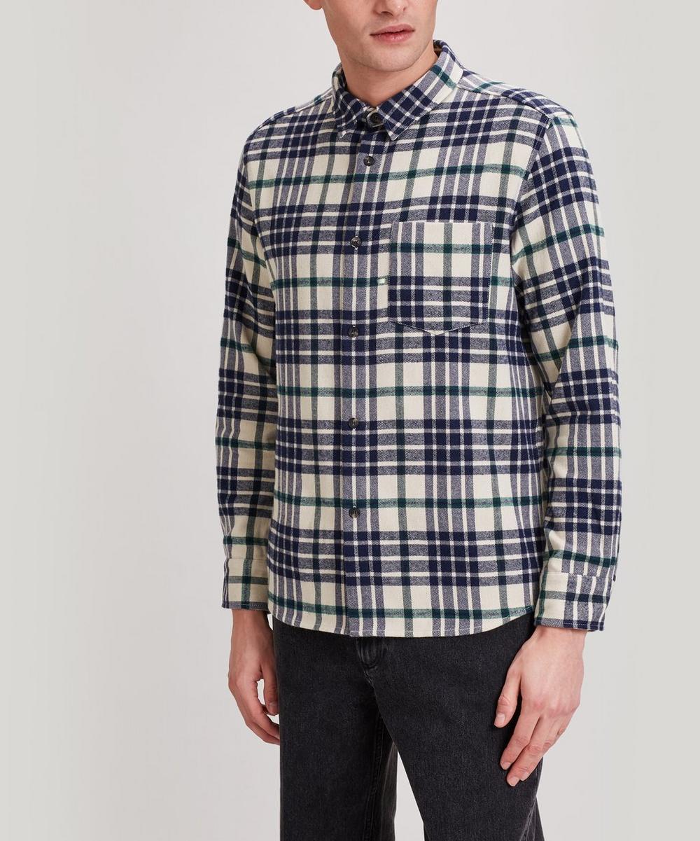 A.P.C. - John Checked Wool-Blend Overshirt