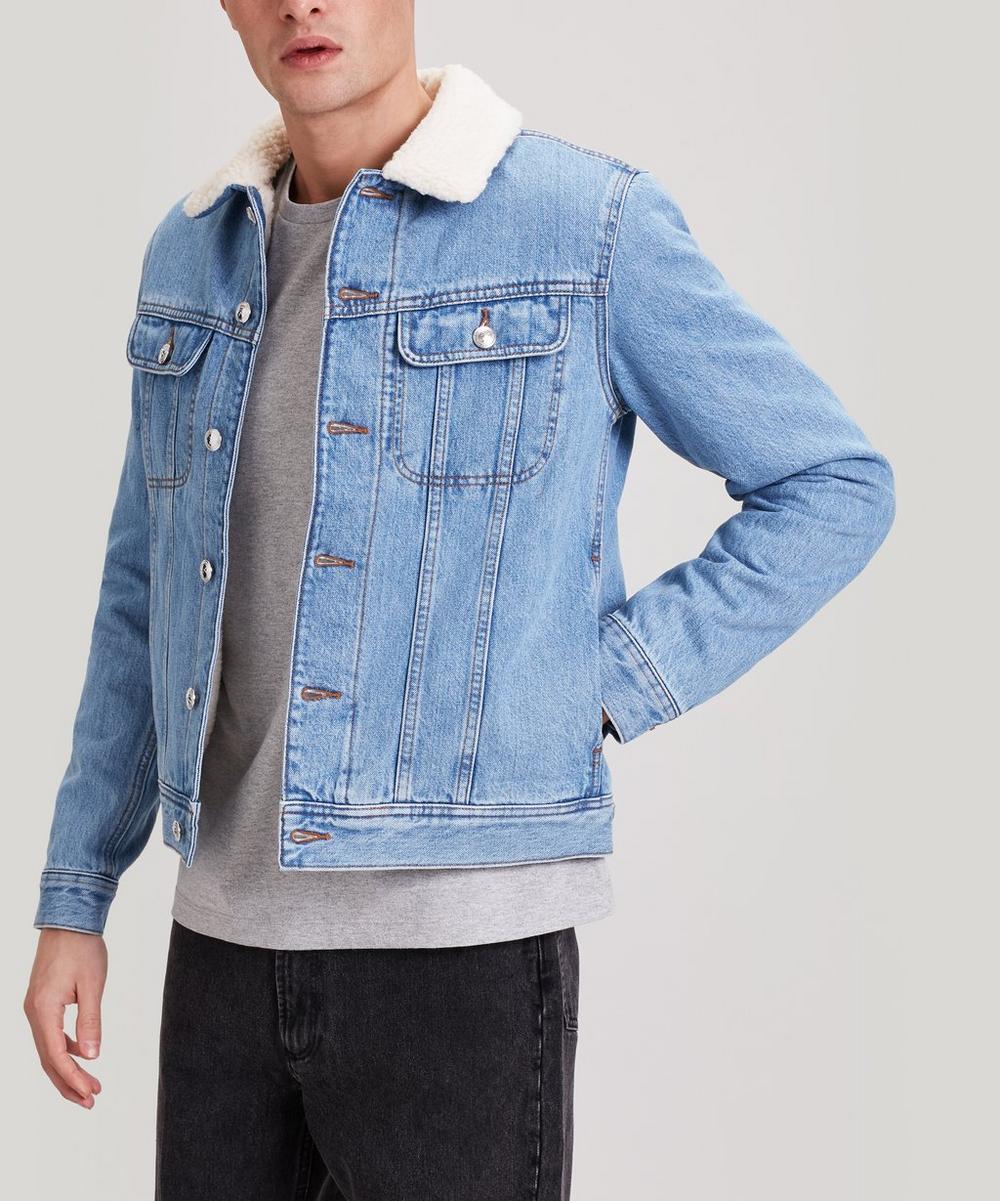 A.P.C. - Julien Faux Shearling-Lined Denim Jacket