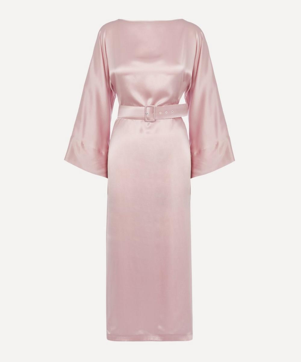 Bernadette - Jackie Silk-Satin Long-Sleeve Belted Dress