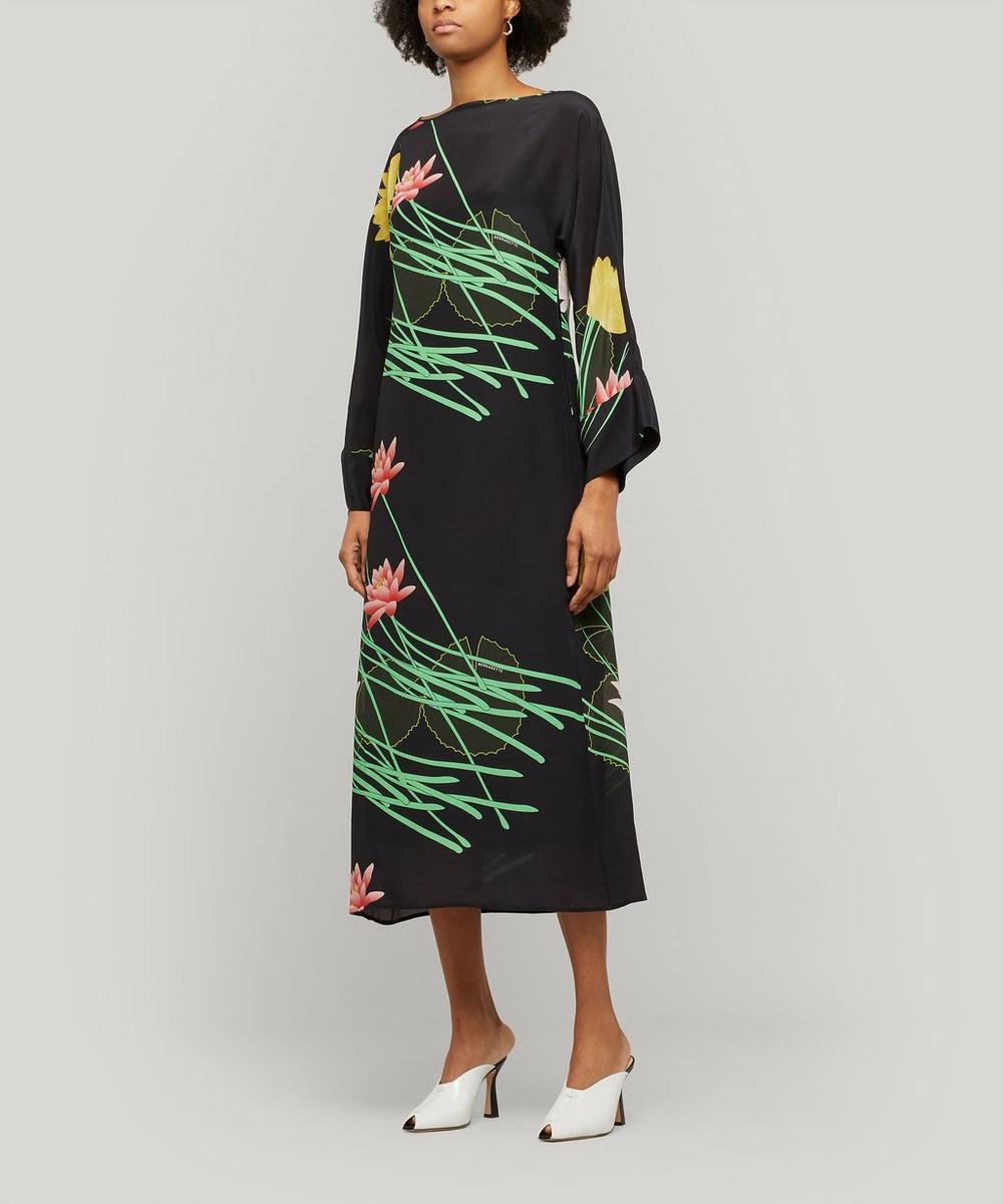 Bernadette - Lily Floral-Print Silk-Crepe Dress