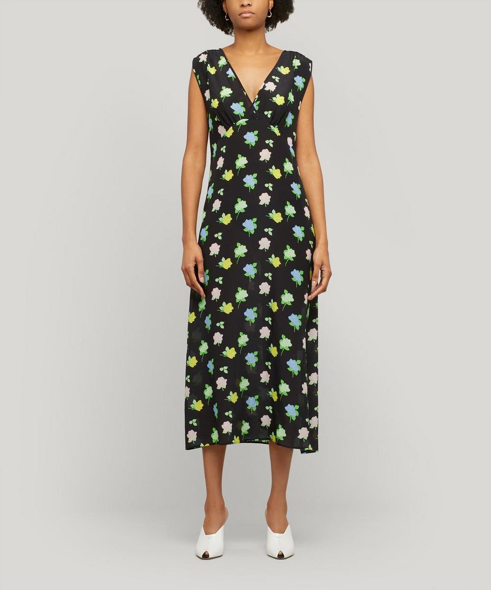 Bernadette - Sarah Sleeveless Floral Silk Dress