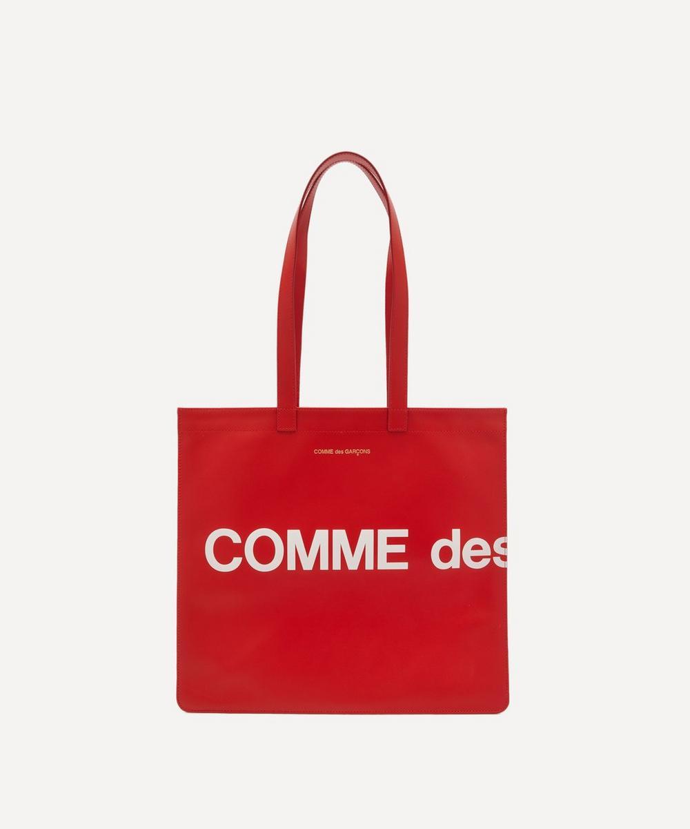 Comme Des Garçons - Huge Logo Leather Tote Bag