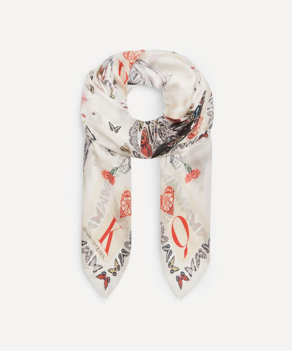 Alexander McQueen - McQueen and King Skeleton Print Silk Scarf