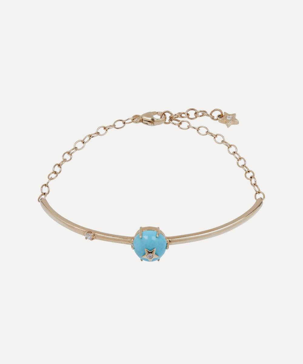 Andrea Fohrman - Gold Mini Cosmo Turquoise and Diamond Bracelet
