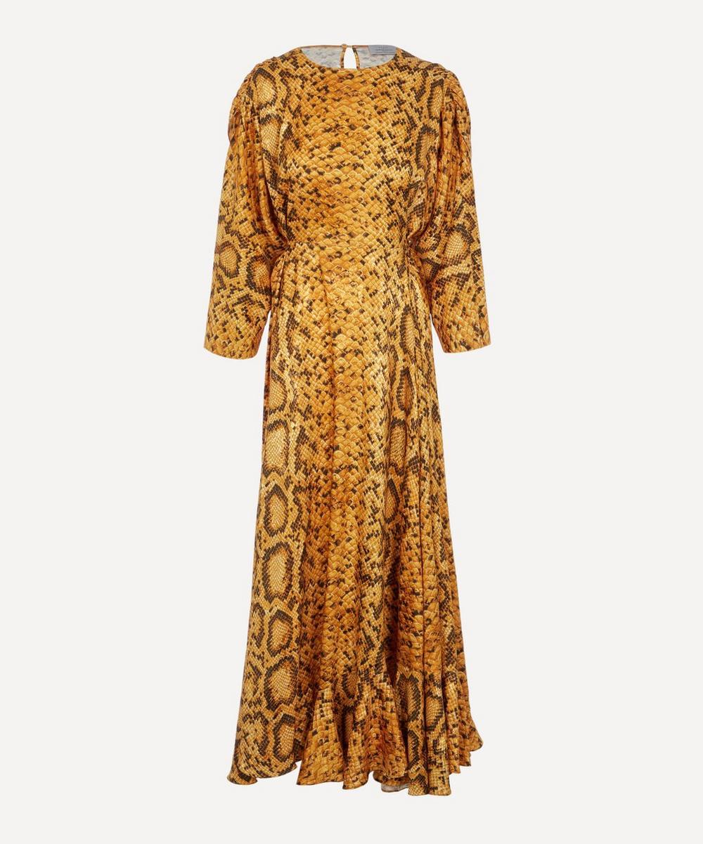 PREEN BY THORNTON BREGAZZI - Claudia Snakeskin Print Dress