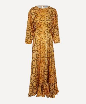 Claudia Snakeskin Print Dress