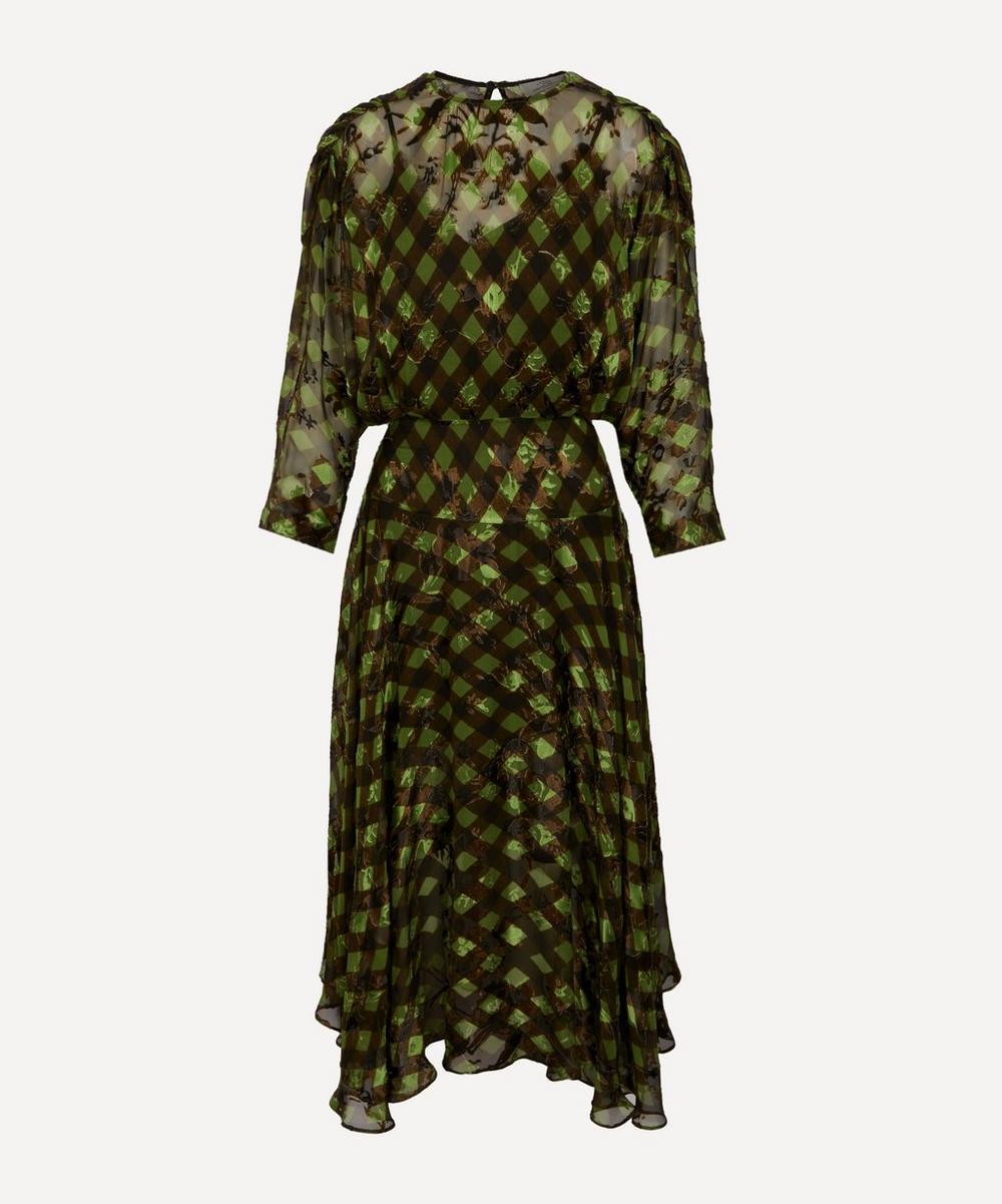 PREEN BY THORNTON BREGAZZI - Brooke Satin Gingham Dress