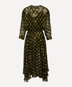 Brooke Satin Gingham Dress
