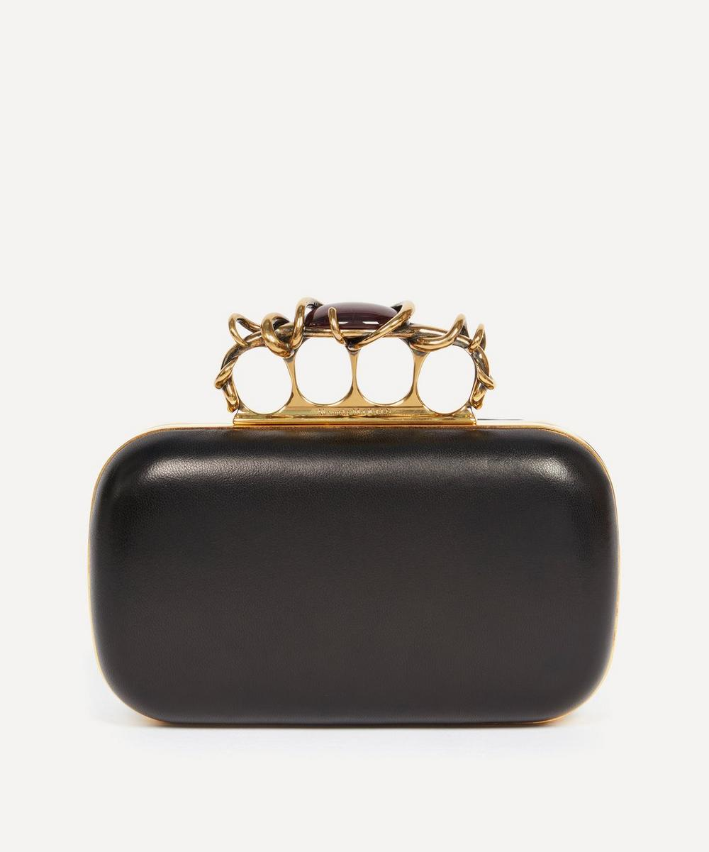 Alexander McQueen - Wire Detail Four Ring Leather Clutch Bag