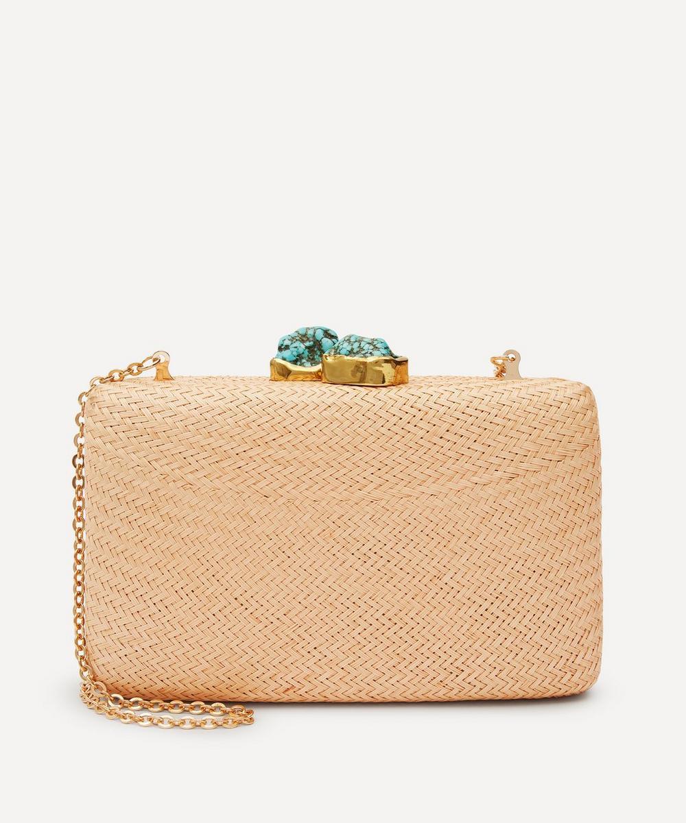 Kayu - Jen Straw Clutch Bag