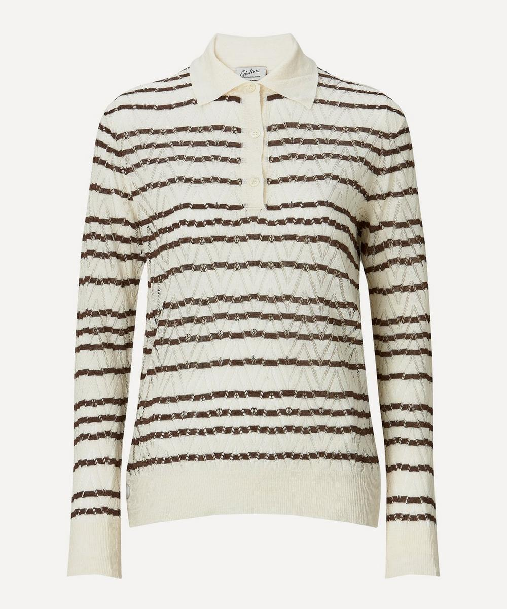 Giuliva Heritage Collection - Striped Polo-Collar Knit