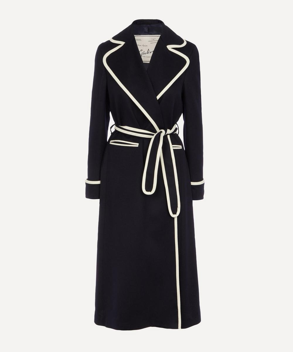 Giuliva Heritage Collection - Contrast Trim Cashmere Coat
