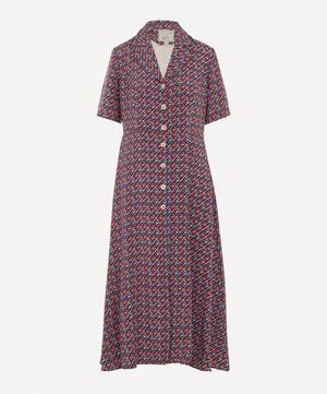 Exclusive Printed Silk Shirt-Dress