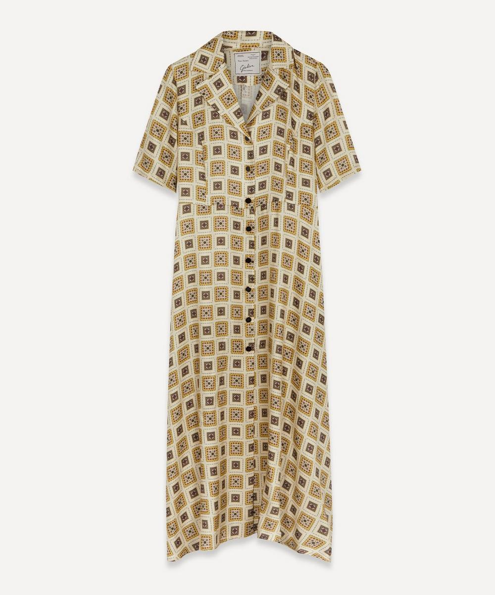 Giuliva Heritage Collection - Exclusive Printed Silk Shirt-Dress
