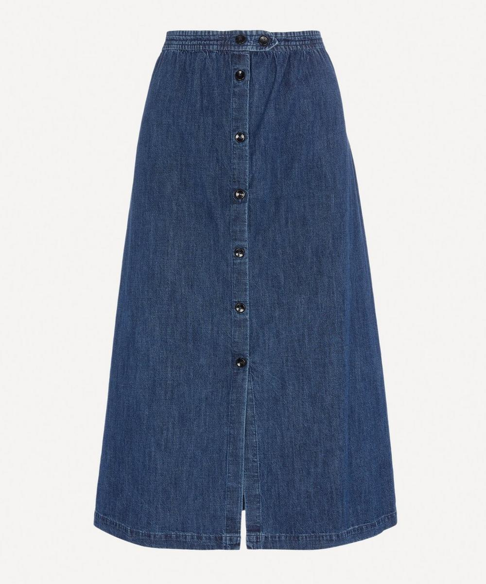 A.P.C. - Deauville Denim Midi-Skirt
