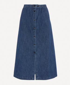 Deauville Denim Midi-Skirt