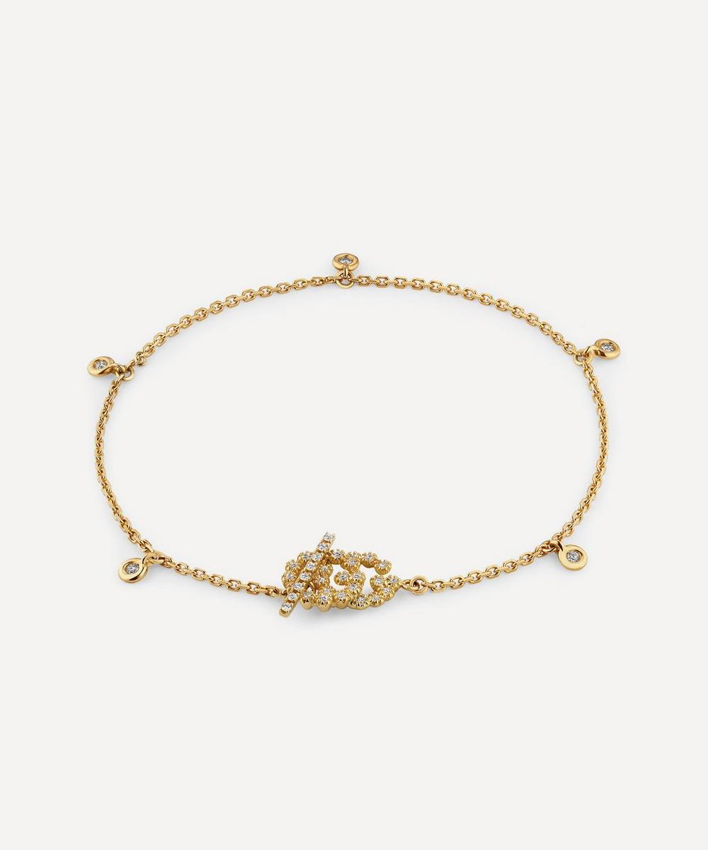 Gucci - Gold GG Running Diamond Bracelet