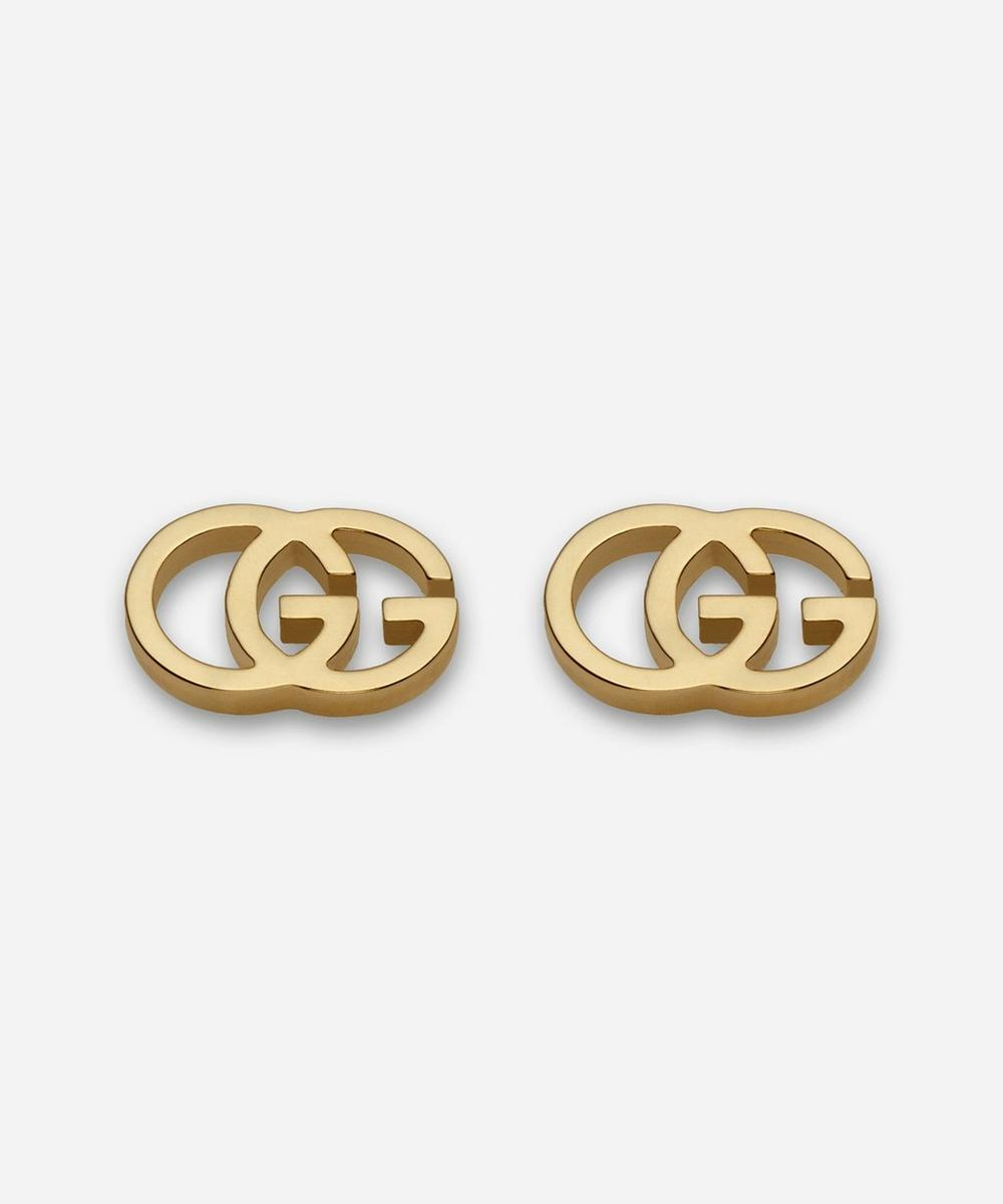 Gucci - Gold GG Tissue Stud Earrings