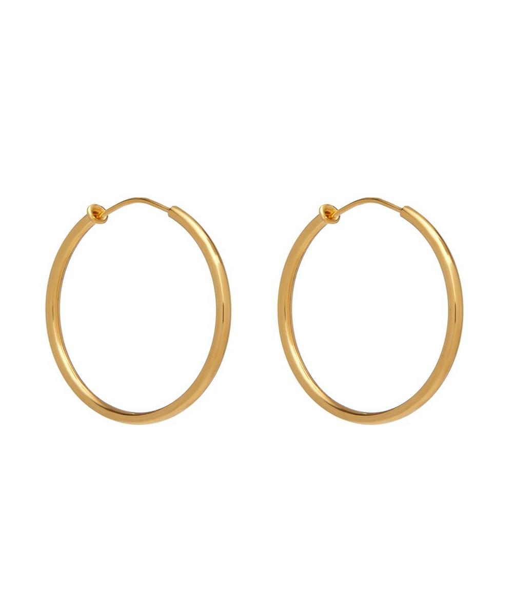 Theodora Warre - Gold-Plated Medium Hoop Earrings