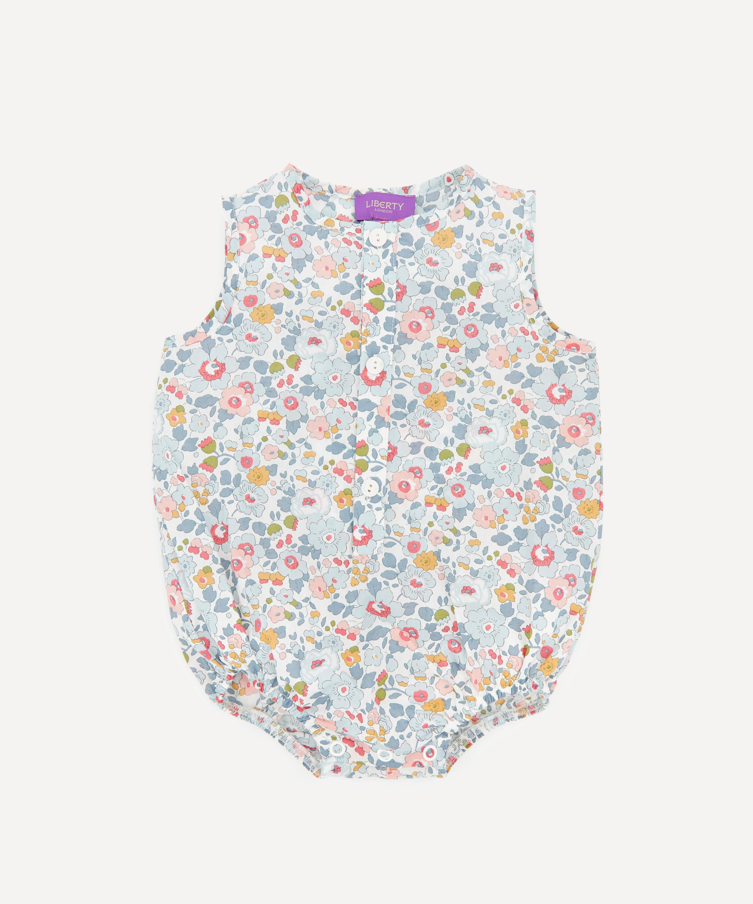 Liberty London and knit baby romper