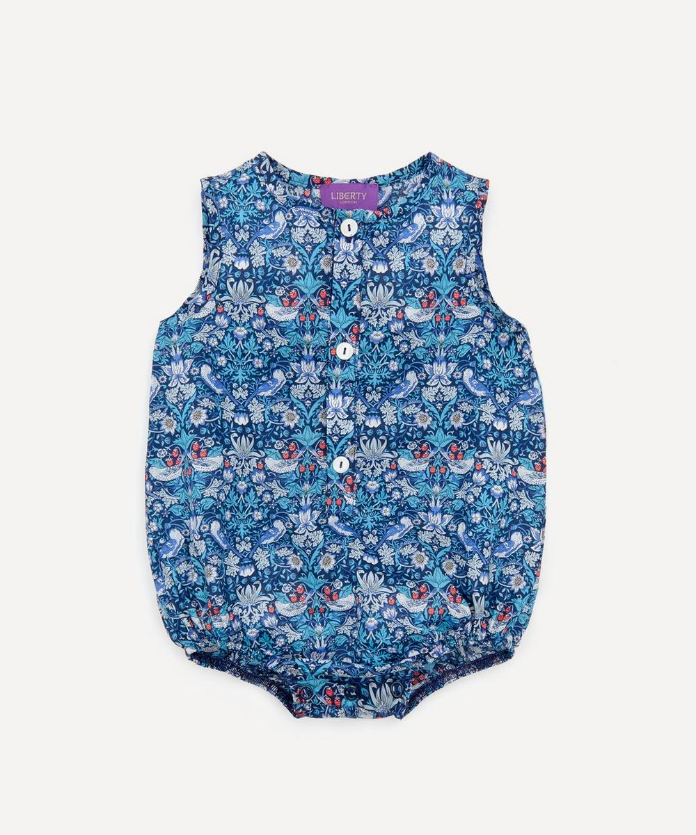 Liberty London - Strawberry Thief Button-Up Romper 3-24 Months