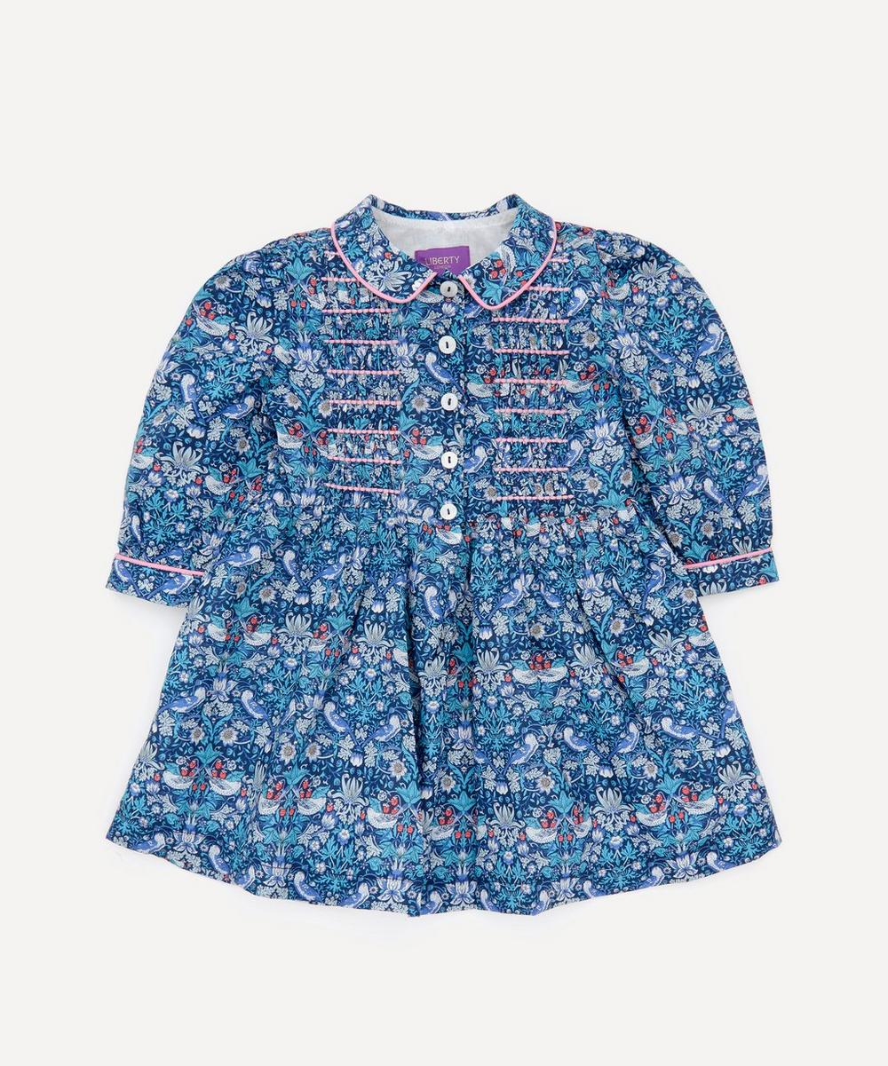 Liberty - Strawberry Thief Long Sleeved Shirt Dress 2-10 Years