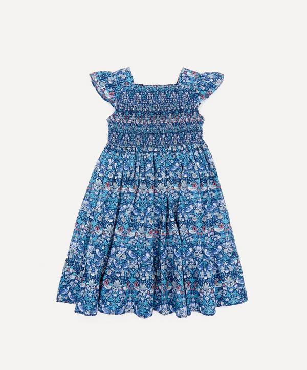 Liberty - Strawberry Thief Ruched Ruffle Dress 2-10 Years