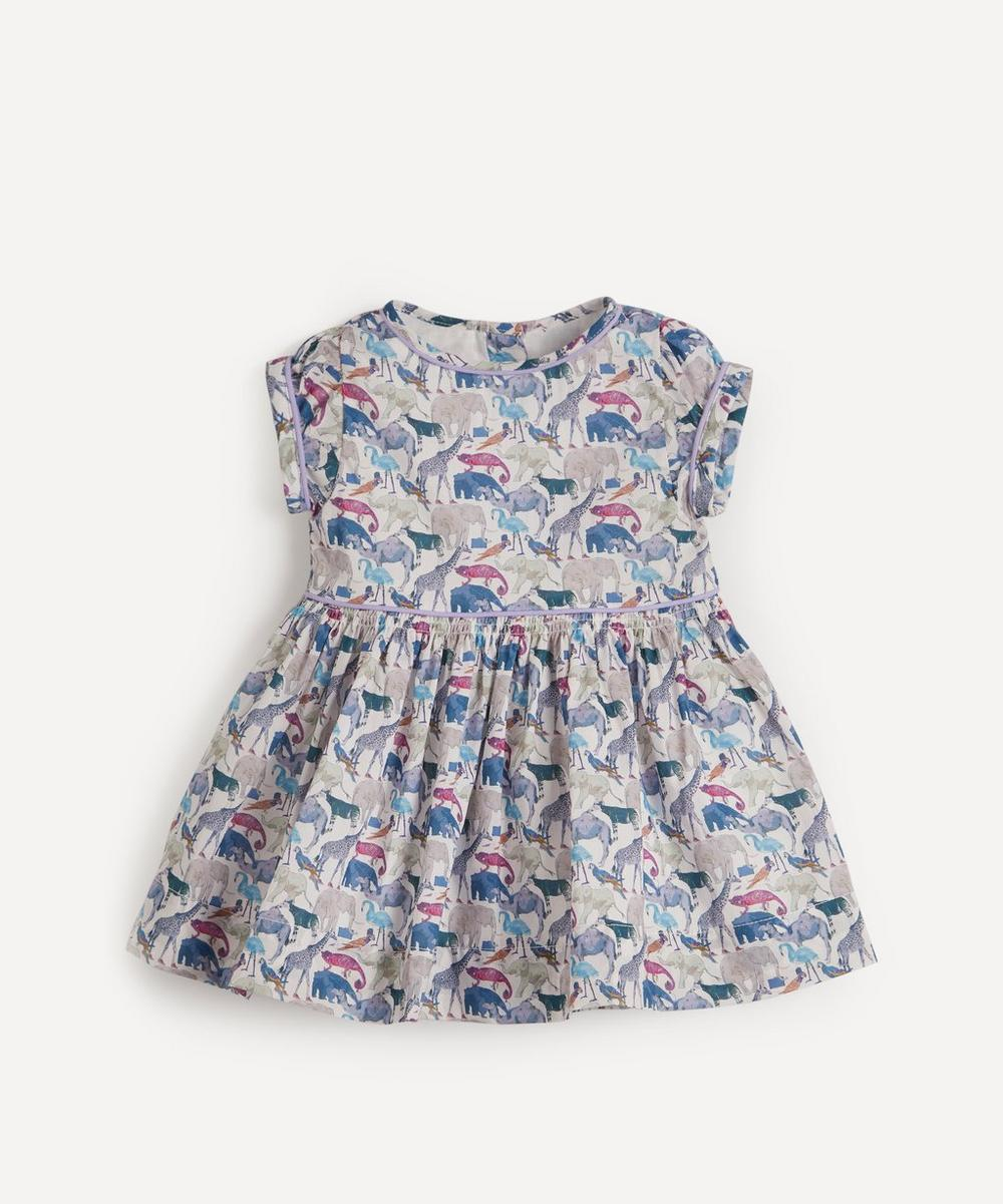 Liberty London - Queue for the Zoo Short Sleeved Dress 3-24 Months