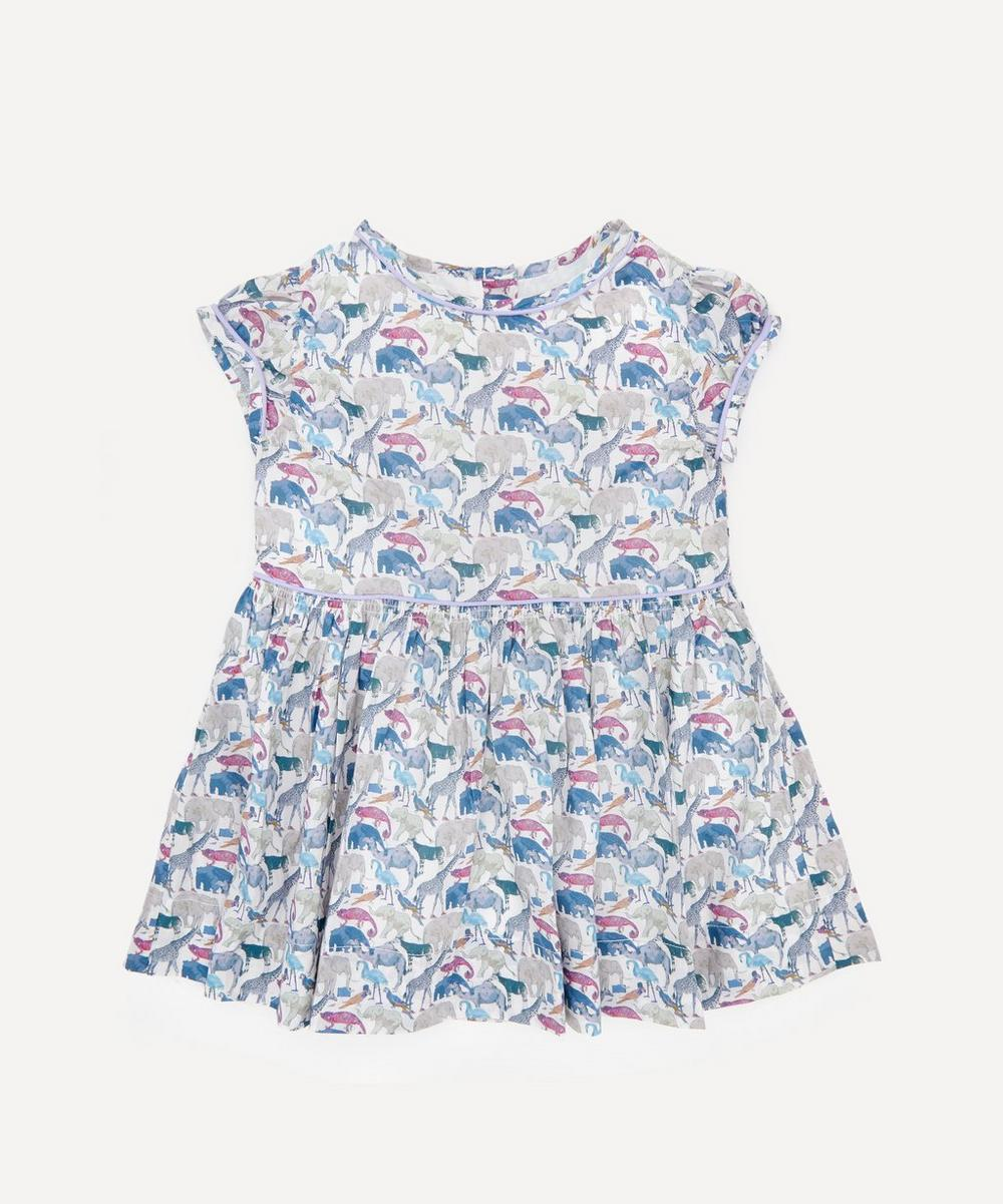 Liberty London - Queue for the Zoo Short Sleeved Dress 2-10 Years