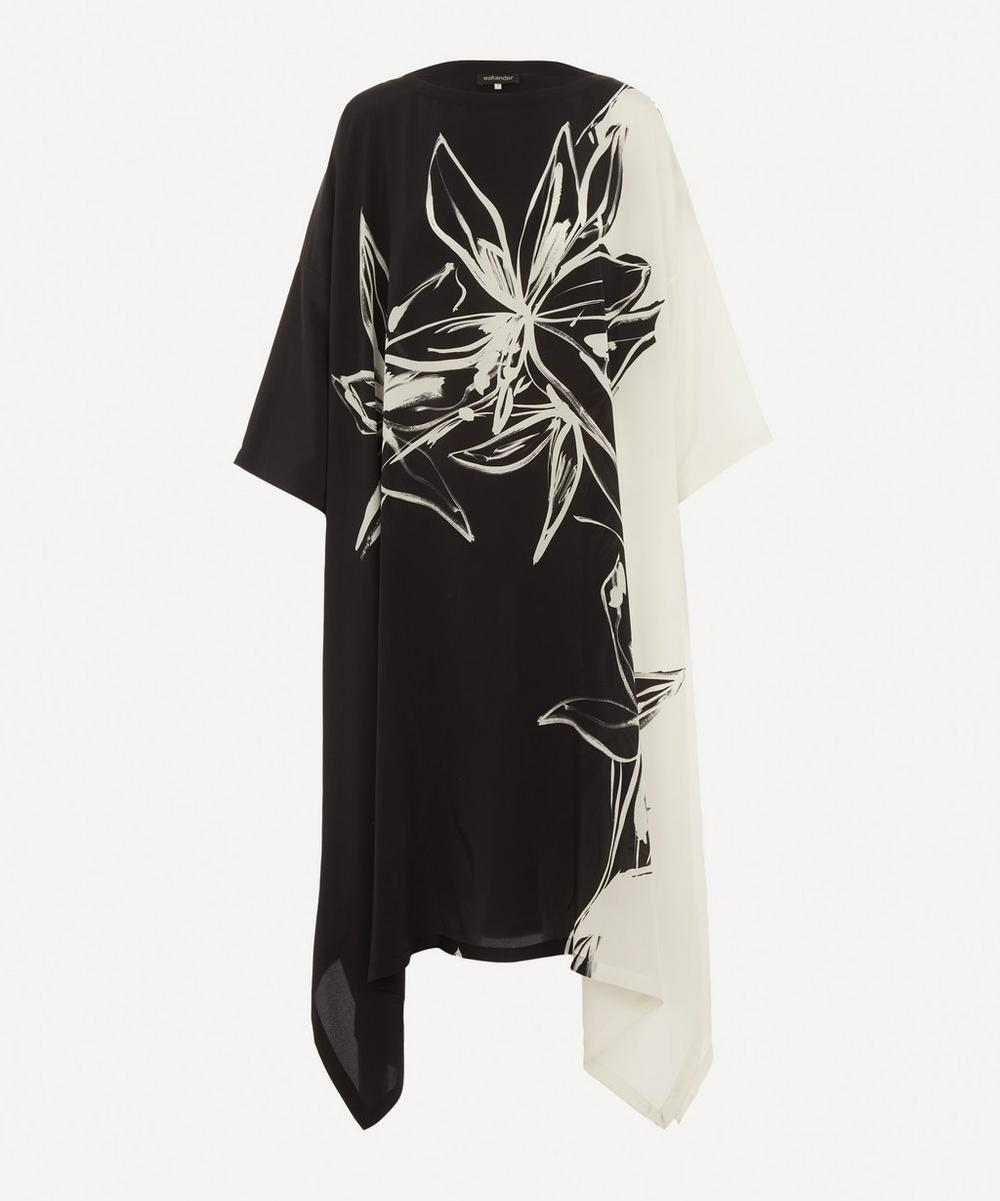 Eskandar - Scoop-Neck Printed Dress